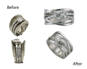 Jewelry Repurposing Before and After